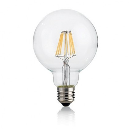 Lampadina E27 Globo LED Filamento Dimmerabile 8W Luce Calda