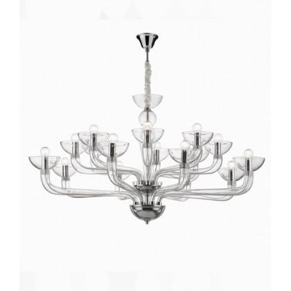 Sospensione Ideal lux CasanovaSP-trasparente-16-E14