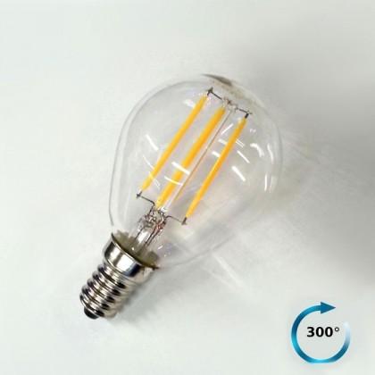 Lampadina E14 Globo LED Filamento 4W