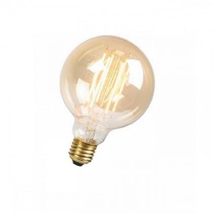 Lampadina E27 Globo LED Filamento 8W 95mm Ambra