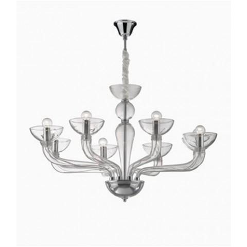 Sospensione Ideal lux CasanovaSP-trasparente-8-E14