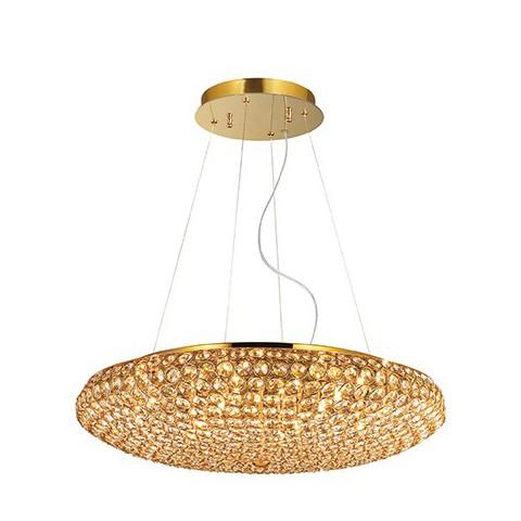 Sospensione Ideal lux King SP12 oro