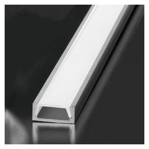 Profilo Alluminio GSTP61 P72 2metri Bianco o Alluminio